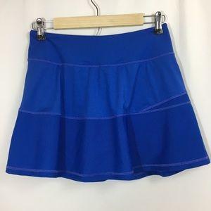 Kyodan Athletic Stretch Mesh Skort Skirt Blue